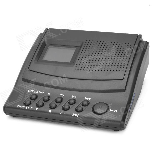 LY008 Portable 1.5 LCD Telephone Recording Box w/ SD - Black (1 x CR2032)