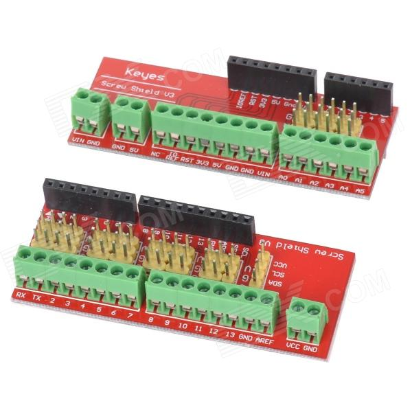 KEYES Extension Board Module for Screw Shield V3 (Compatible w/ UNO R3) - Red (2 PCS)