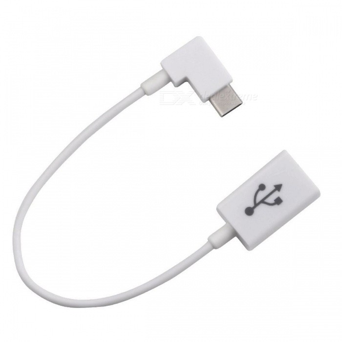 CY UC-017-WH Right Angled 90 Degree USB Type-C to USB 2.0 Cable
