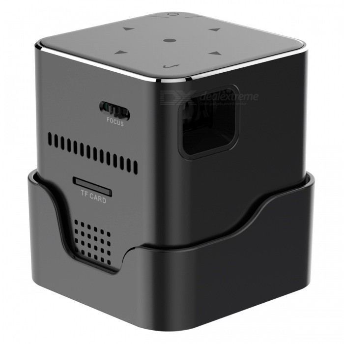 ORIMAG P6 Portable Smart Mini DLP LED FHD Projector - Black (US Plugs)