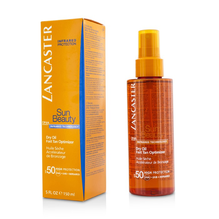 Lancaster Sun Beauty Dry Oil Fast Tan Optimizer SPF50 - Worldwide Free Shipping - DX